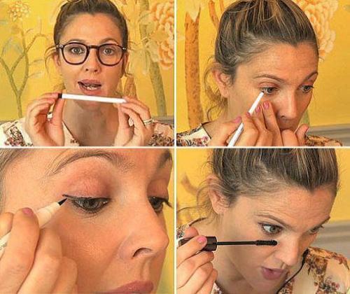 Drew barrymore eye makeup