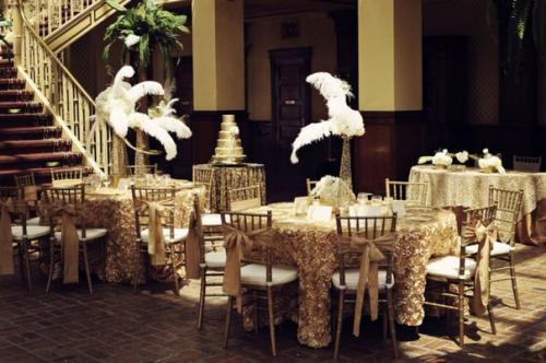 Свадьба в стиле гэтсби.