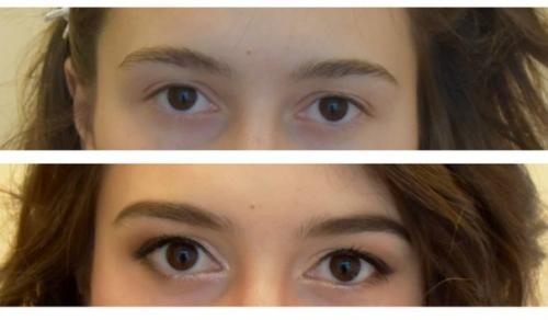 Как сделать макияж что глаза казались большими 43