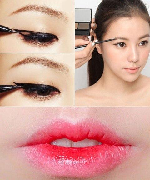 Фото девушек как делают макияж