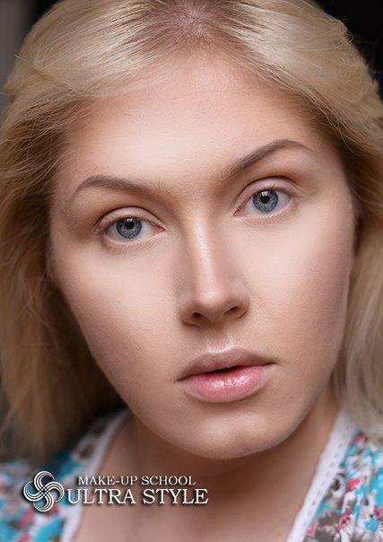 Гелевая техника в макияже. Модный макияж в гелевой технике.