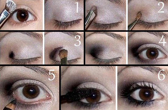 Вечерний макияж для карих глаз: пошаговое фото