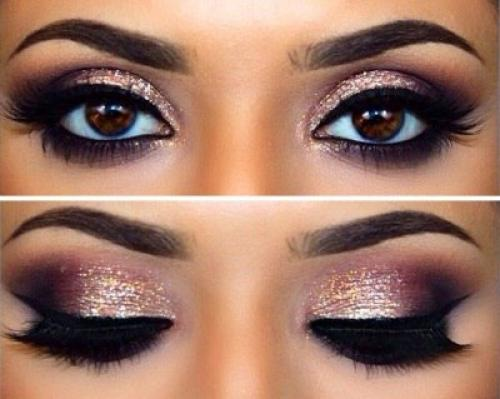 Дерзкий макияж карих глаз