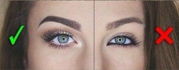 Как сделать глаза визуально больше с русской помощью перманентного макияжа.
