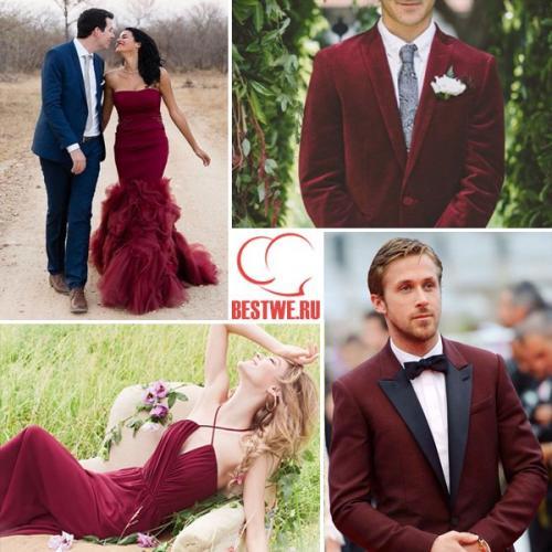 Макияж под цвет платья Марсала. = Цветовые решения: свадьба в цвете Марсала =.