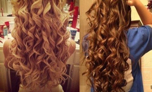 Как сделать красивую химию на длинные волосы