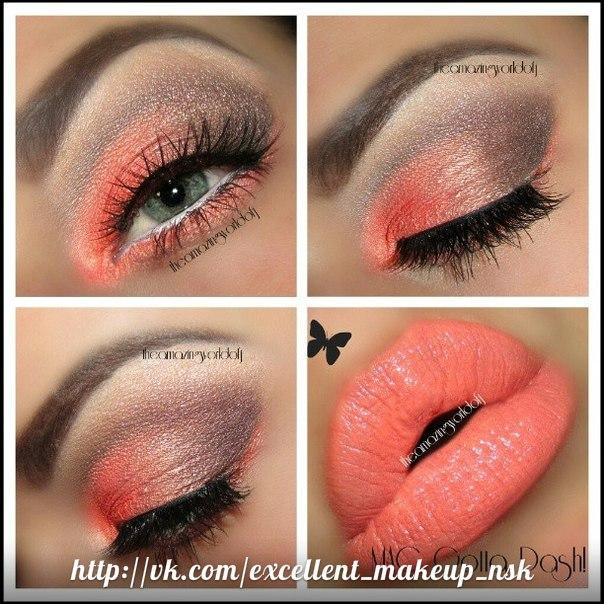 Что учесть при использовании помад кораллового цвета. макияж глаз.