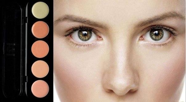 Картинки по запросу Скрывай различные дефекты кожи, применяя разные цвета.