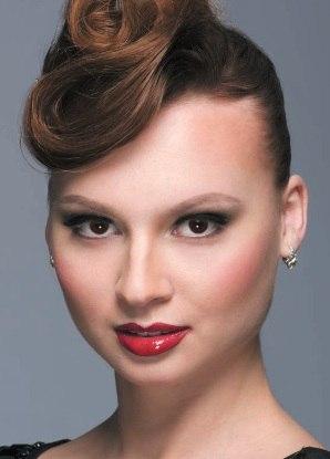 Макияж в русском стиле женщины вамп.