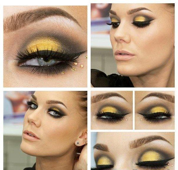 Яркий макияж все виды