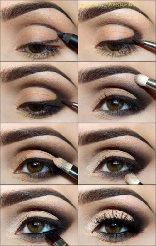 Фото виды макияжа для голубых глаз