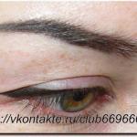Перманент глаз помогает визуально раскрыть взгляд или наоборот, слегка уменьшить разрез.