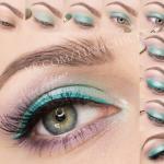 "Макияж ""Бирюза"".  макияж makeup красота схема мода косметика глаза стрелки."