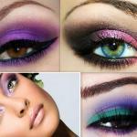 Макияж для увеличения глаз: Главной хитростью, используемой для макияжа глаз, чтобы показать их гораздо больше, является игра теней двух оттенков, темного и светлого.