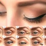 Пошаговый фото-урок. Стрелки на глазах – классика макияжа.