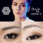 Фото урок по созданию макияжа глаз как у участника группы EXO Sehun.