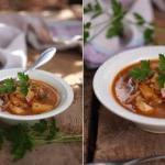 Овощной суп с чечевицей.