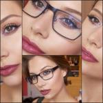 Макияж и очки: