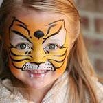 Рисунки на лице для детей, детские татуировки, аквагрим.