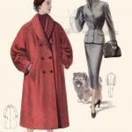 По мнению дизайнеров того времени, идеальная женщина должна была иметь тонкую «осиную» талию, покатые плечи, приподнятую грудь и пышные округлые бедра.
