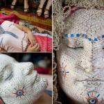 Традиционный макияж невесты в Косово.