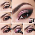Вечерний макияж.  1. сделайте форму карандашом, как на фото.