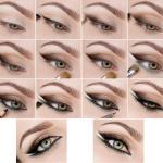 Урок макияжа ласточка для зеленых глаз.