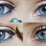 Естественный макияж для голубоглазых красавиц выполняется декоративной косметикой, оттенки которой максимально приближены к цвету их кожи.