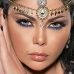 Арабский макияж для голубых глаз внимание на глаза акцентирует.
