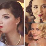 Свадебный макияж в стиле 20-х.