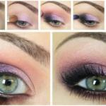 Красивый макияж для глаз в розовых тонах подчеркнет вашу красоту.