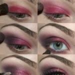 Макияж для зеленых глаз пошаговый урок. источник Интернет.