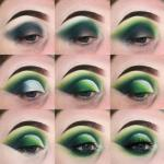 Яркий зеленый макияж часто используется на фотосъемках моделей, как сценический макияж или на тематических вечеринках.